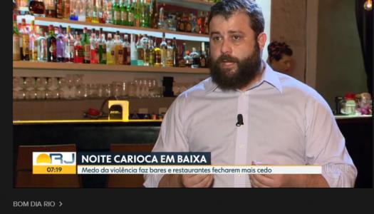 Medo da violência faz bares e restaurantes fecharem mais cedo. Fonte: Bom dia RJ