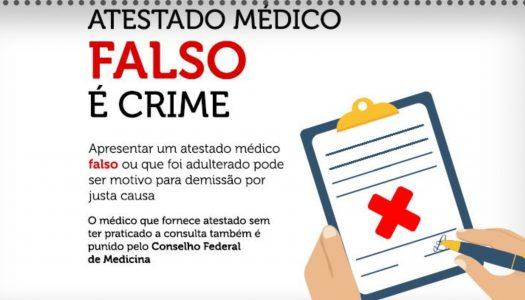 APRESENTAÇÃO DE ATESTADO MÉDICO FALSO